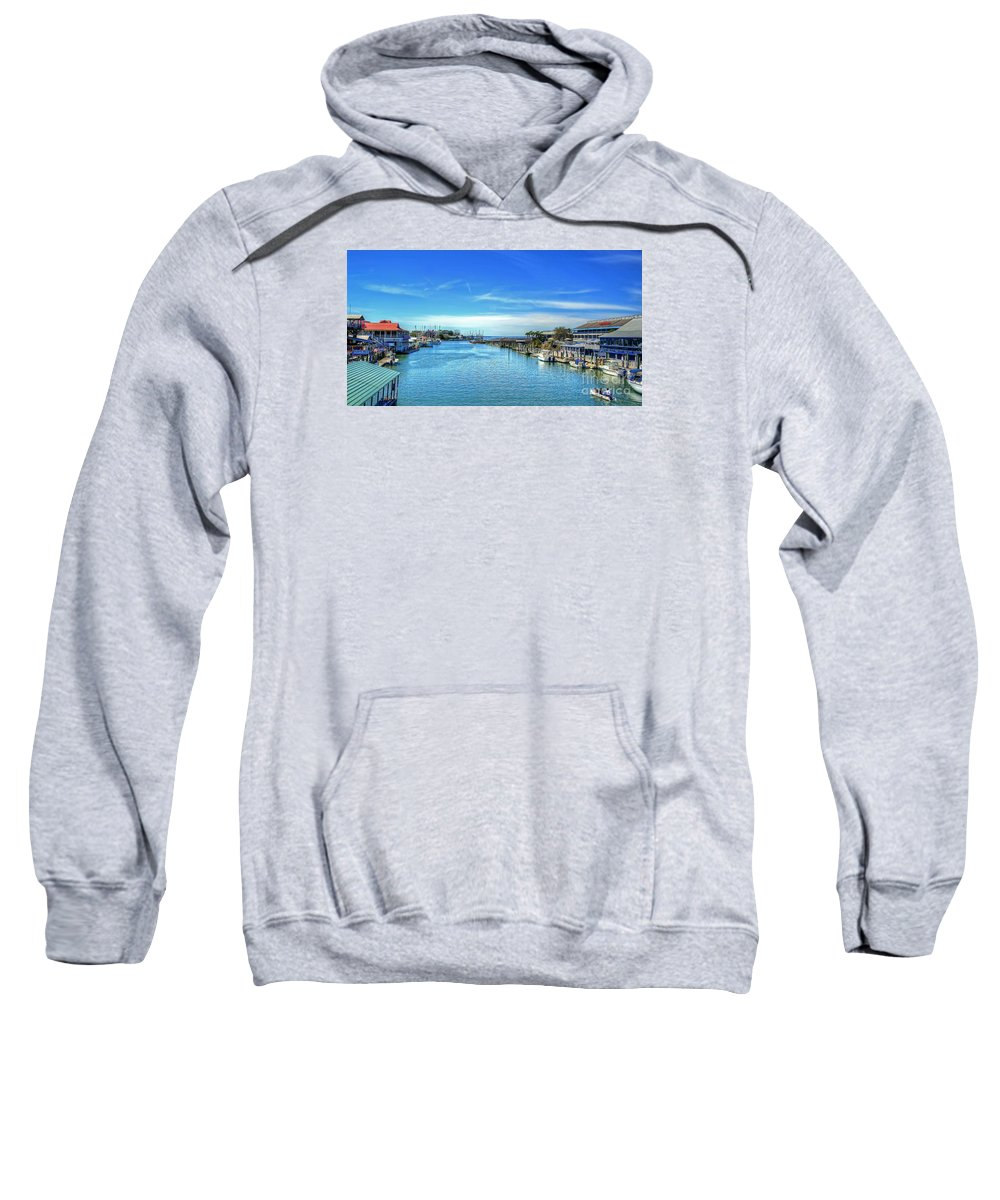 Boats Sweatshirt featuring the photograph Shem Creek by Kathy Baccari