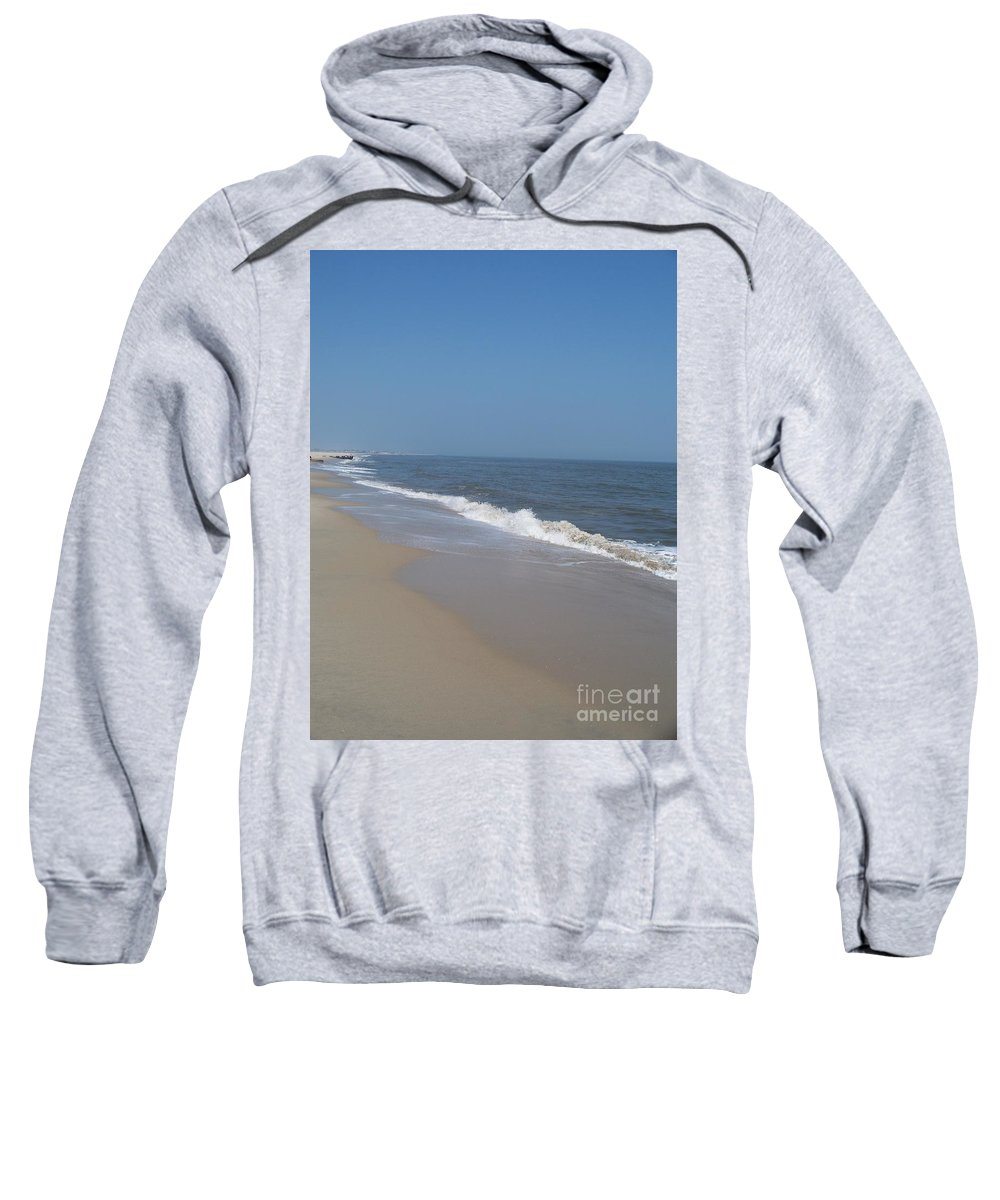 Jersey Shore Sweatshirt featuring the photograph Shoreline At Cape May by Eric Schiabor