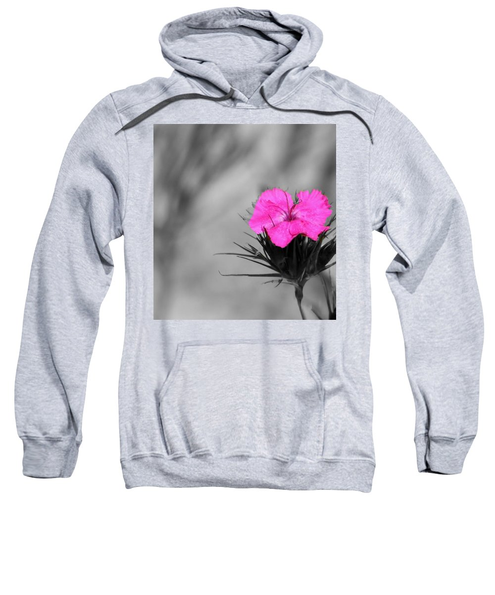 Flower Sweatshirt featuring the photograph Show Off by Barbara S Nickerson