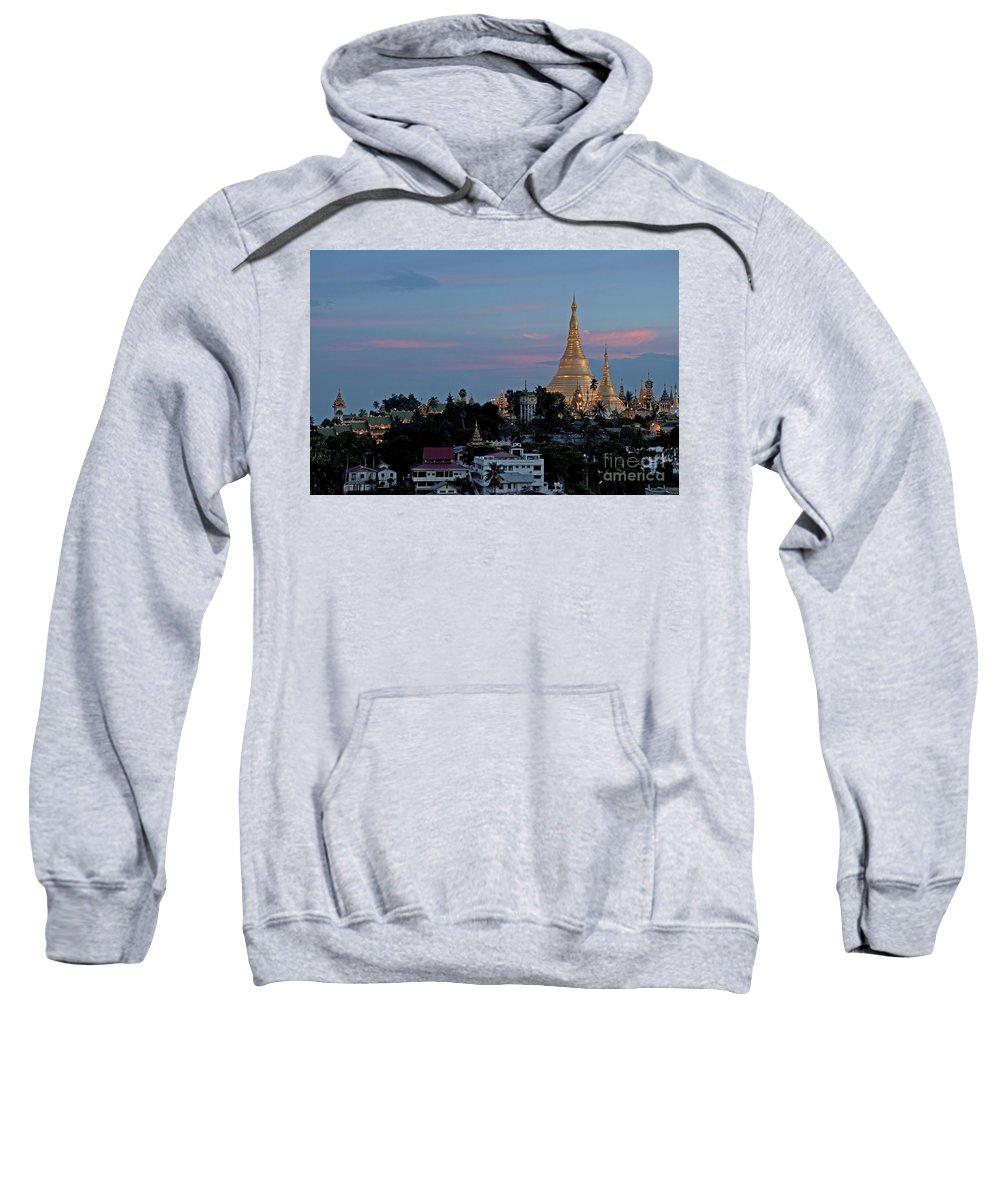 Shwedagon Sweatshirt featuring the photograph Shwedagon Pagoda In Yangon Myanmar by Jacek Malipan