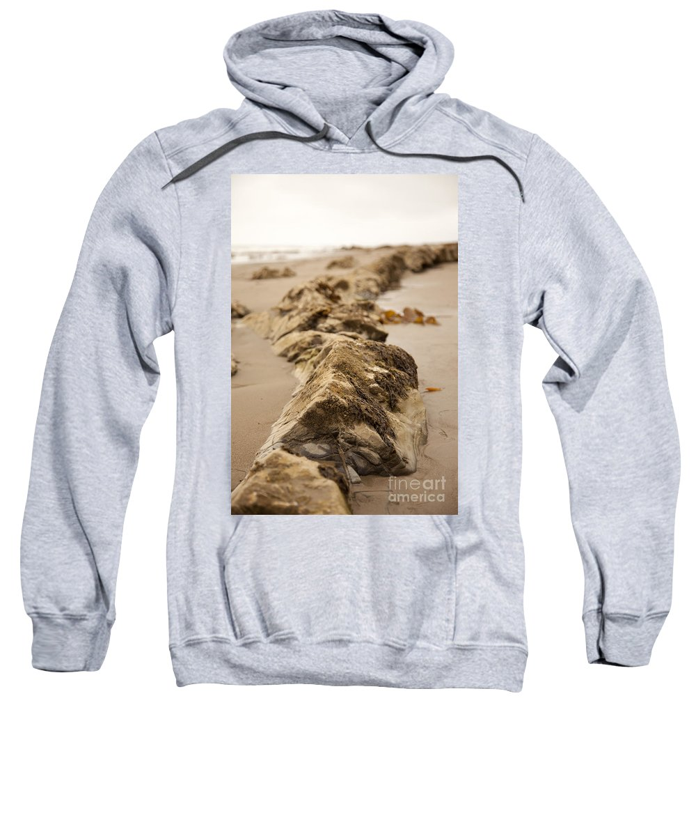 rocky Shore Sweatshirt featuring the photograph Side Winding by Amanda Barcon