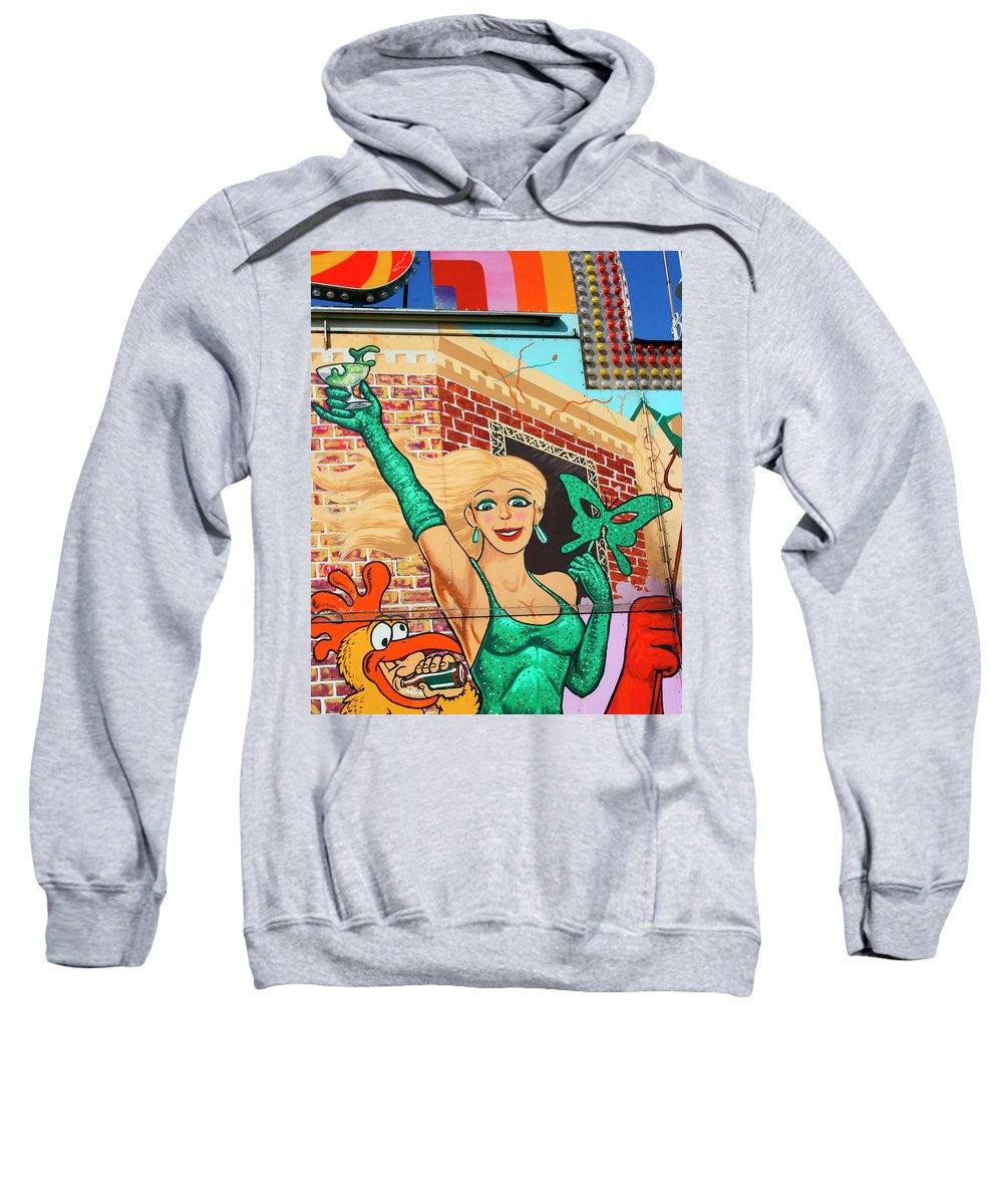 Sideshow Sweatshirt featuring the photograph Carnival Girl Palm Springs by William Dey