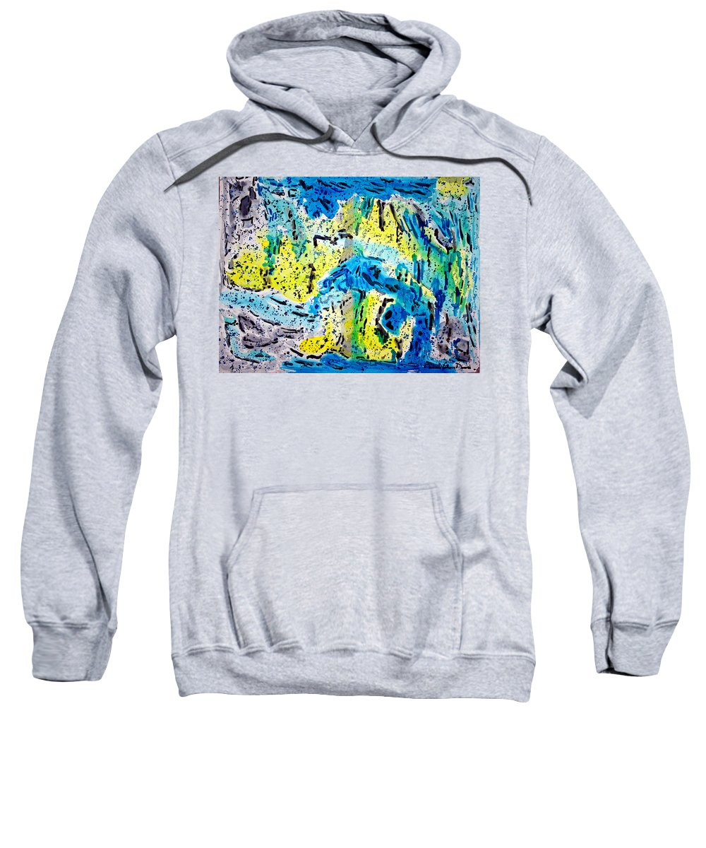 Abstract Expressionism Sweatshirt featuring the painting Sierra Amarilla by Michael Moore