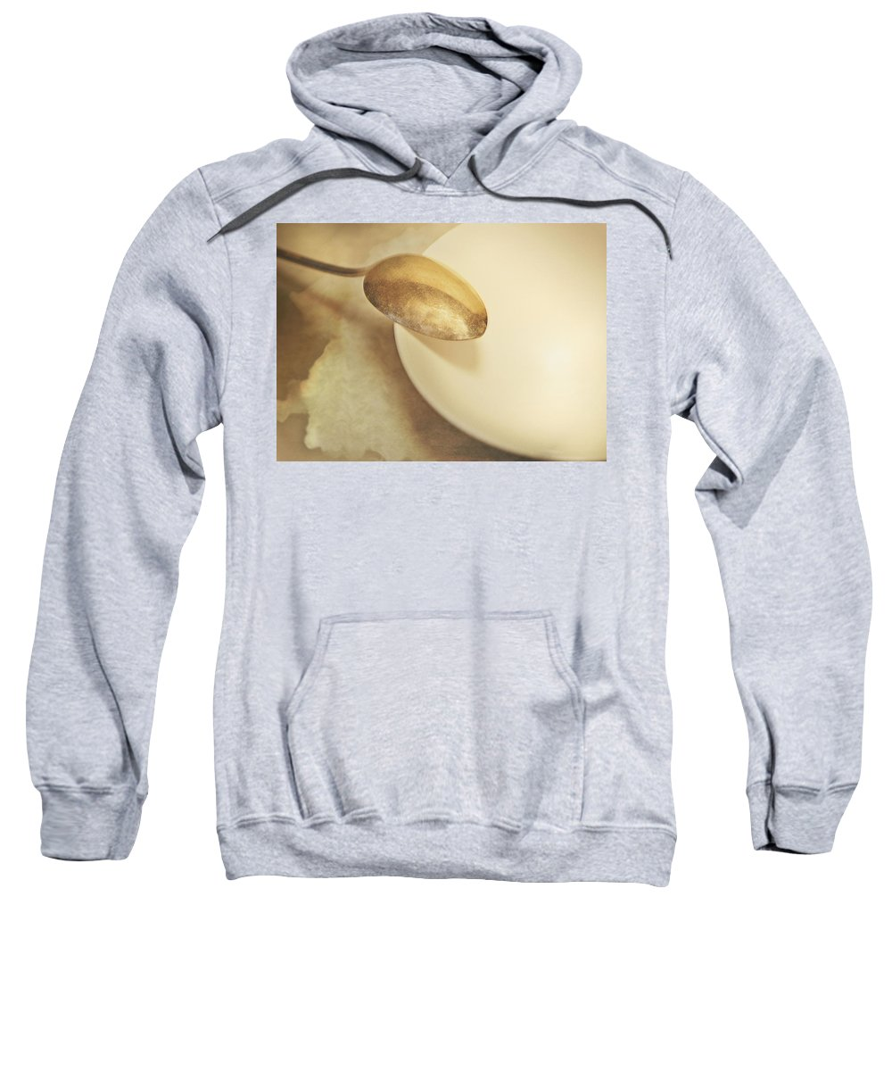 Still Life Sweatshirt featuring the photograph Silver Spoon by John Anderson