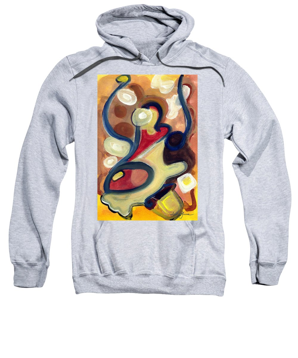 Abstract Art Sweatshirt featuring the painting Simple Beauty by Stephen Lucas