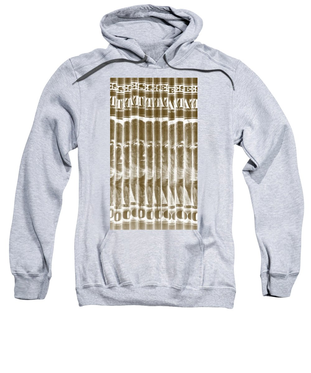 Money Sweatshirt featuring the photograph Singles In Gold by Rob Hans