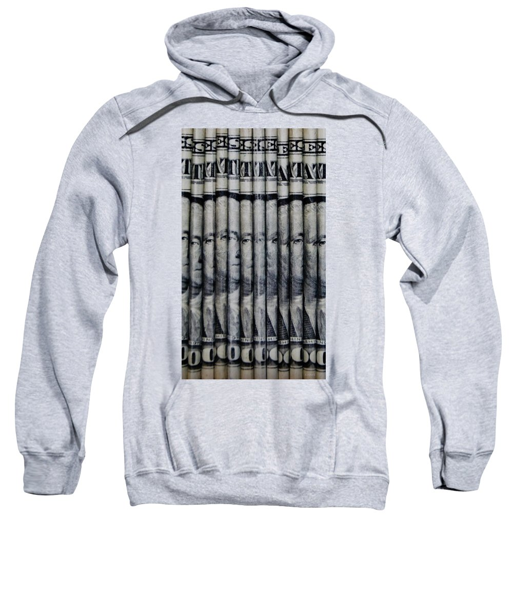 Money Sweatshirt featuring the photograph Singles by Rob Hans