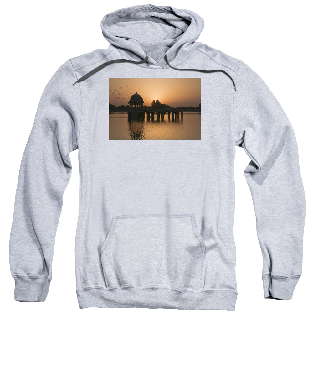Sunrise Sweatshirt featuring the photograph Skn 1368 Sunrise Flight by Sunil Kapadia