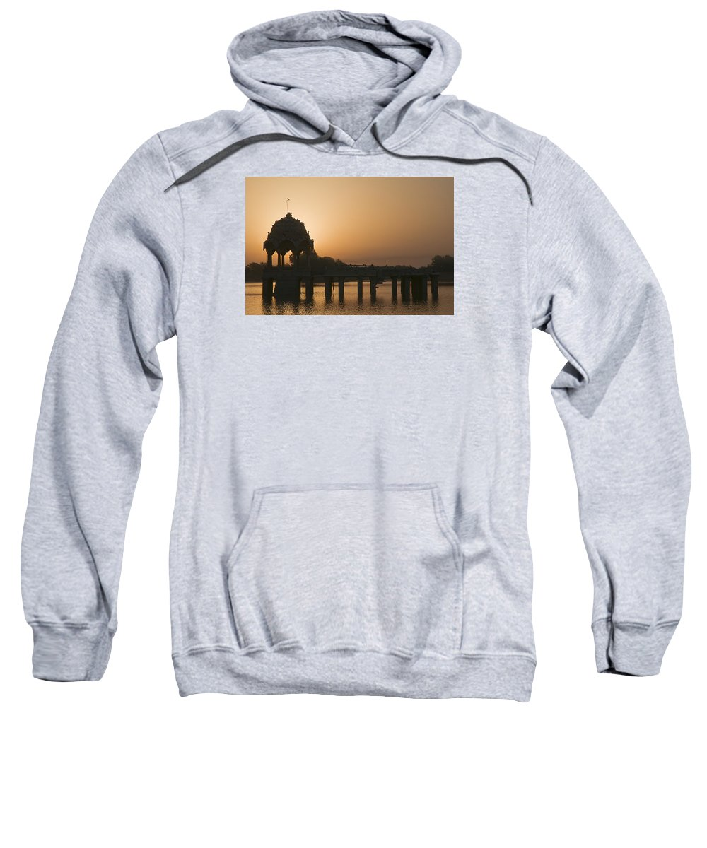 Morning Sweatshirt featuring the photograph Skn 1383 The Morning Glow by Sunil Kapadia