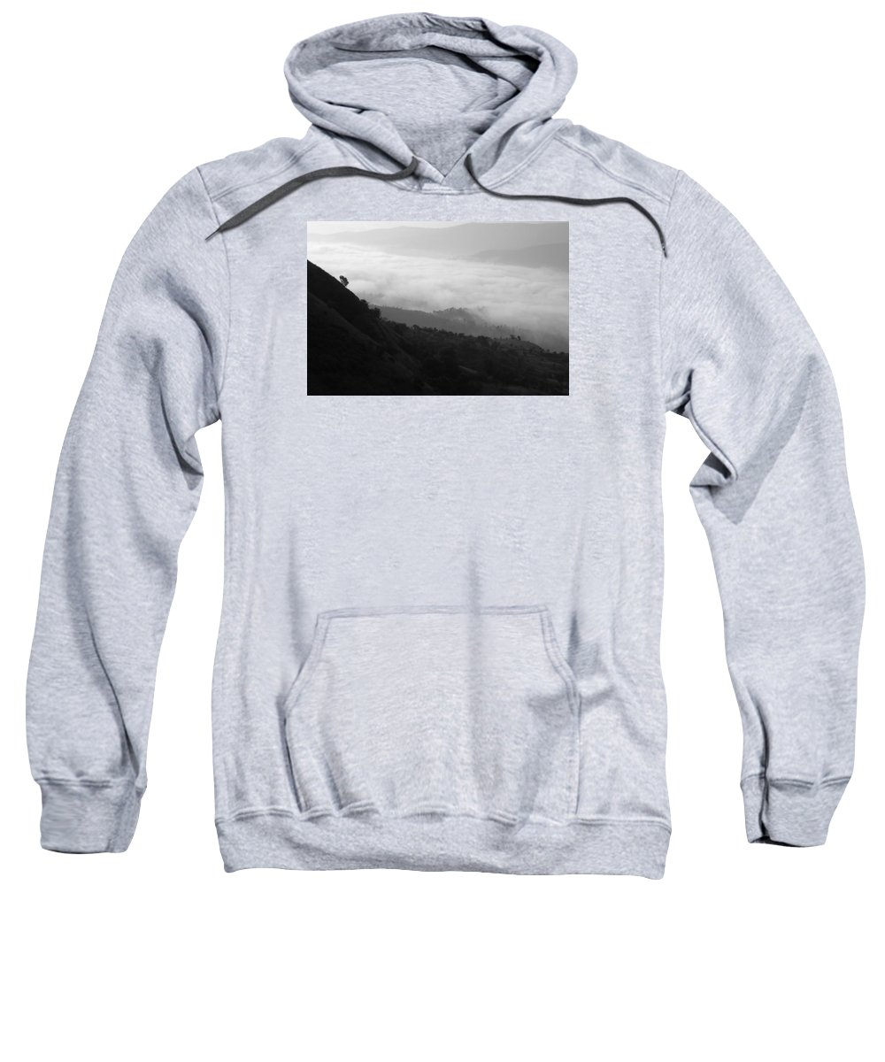 Serene Sweatshirt featuring the photograph Skc 0755 Valley Of Clouds by Sunil Kapadia