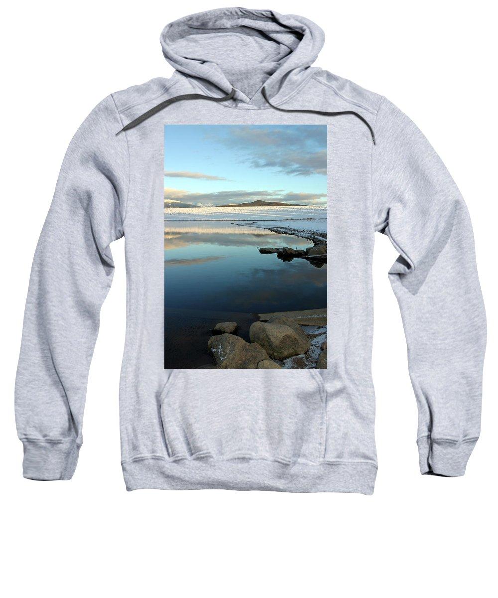 Landscape Sweatshirt featuring the photograph Sky Lake by Scott Mahon