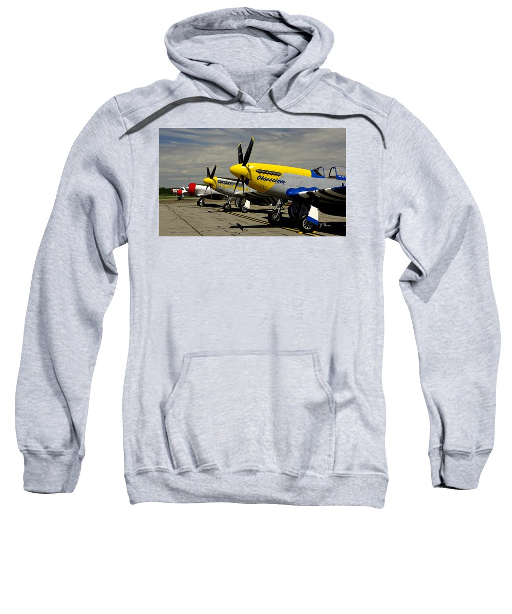 Airplanes Sweatshirt featuring the photograph Sky The Limit by James C Thomas