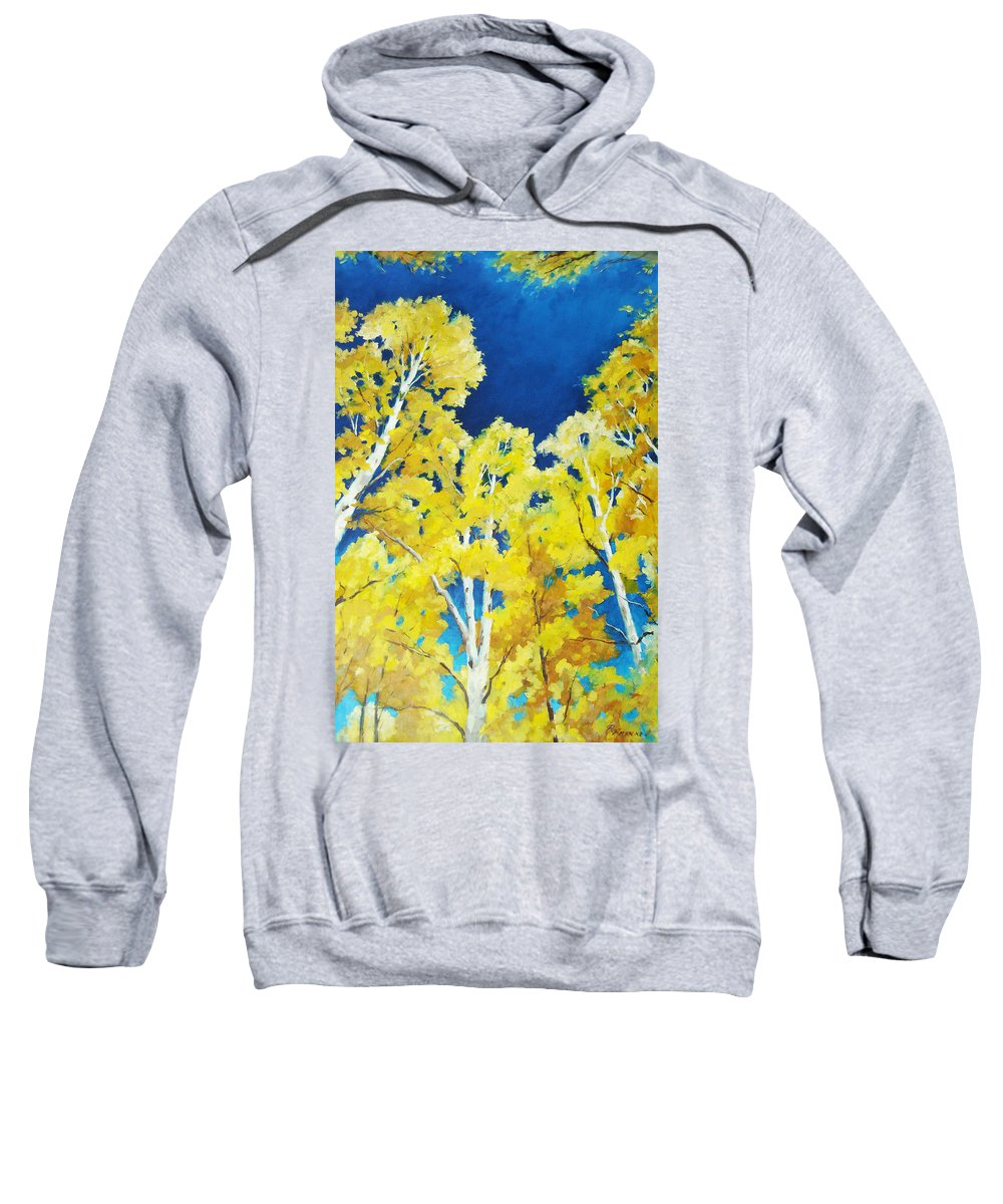 Sky Sweatshirt featuring the painting Skyward by Richard T Pranke