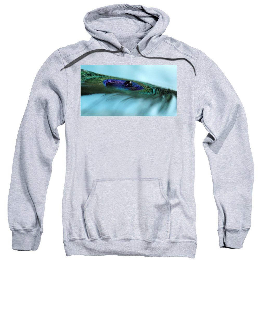 Peacock Feather Sweatshirt featuring the photograph Slipping Away by Krissy Katsimbras