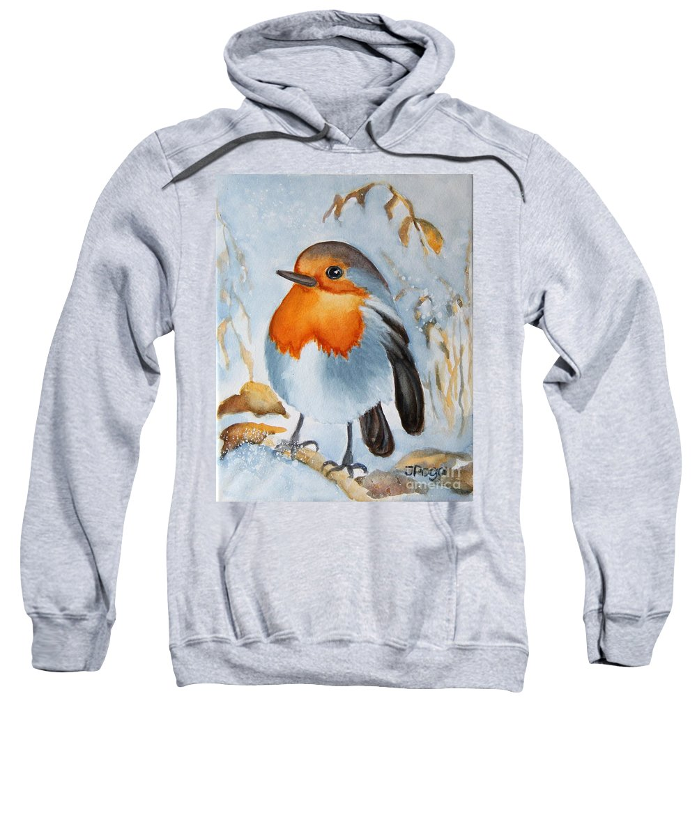 Bird Painting Sweatshirt featuring the painting Small Bird by Inese Poga