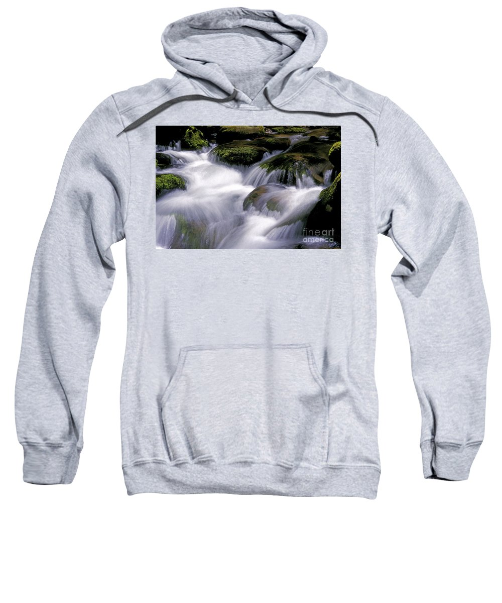 Stream Sweatshirt featuring the photograph Smoky Mountain Stream by Paul W Faust - Impressions of Light