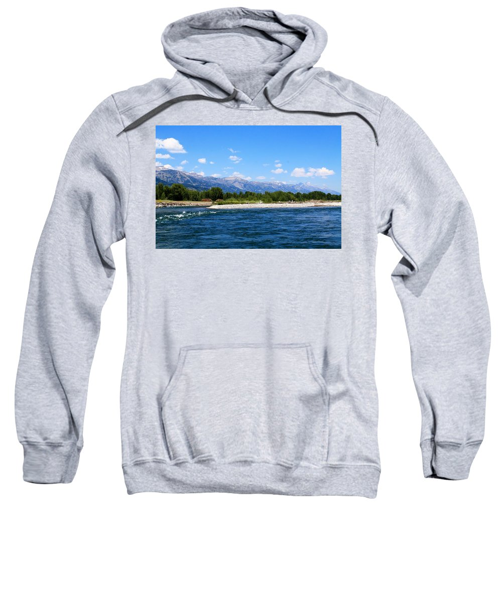Snake River Sweatshirt featuring the photograph Snake And Tetons by Catie Canetti