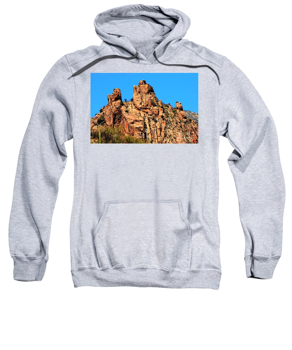 Snoopy Sweatshirt featuring the photograph Snoopy Rock - Sabino Canyon Tucson Arizona by Tap On Photo