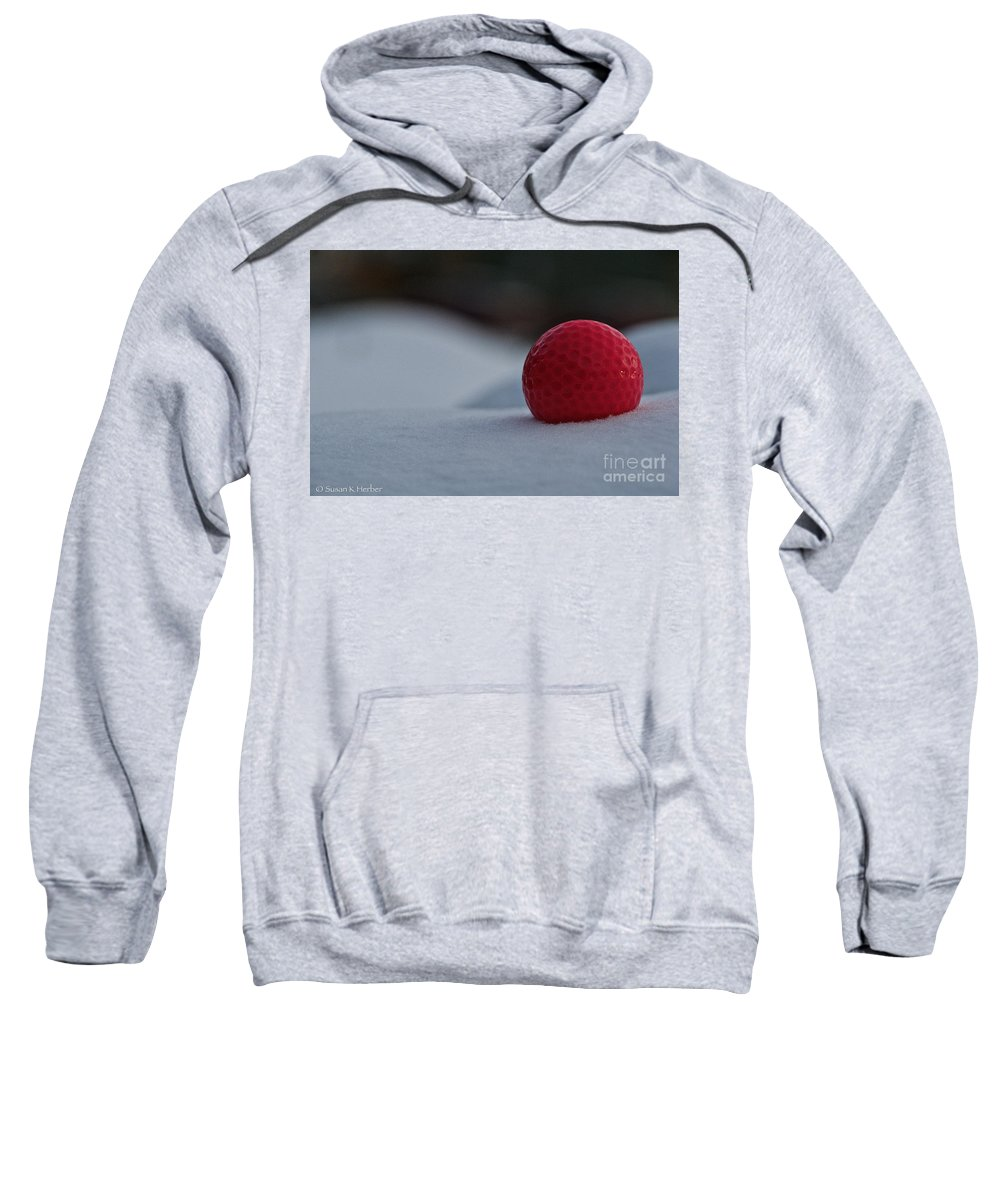Outdoors Sweatshirt featuring the photograph Snow Golf by Susan Herber