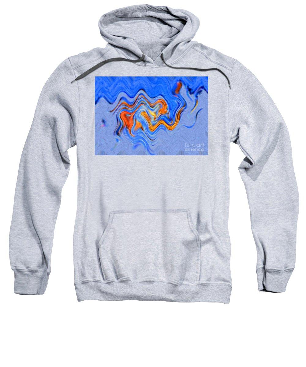 60's Sweatshirt featuring the digital art Snow Wave by Christine Dekkers