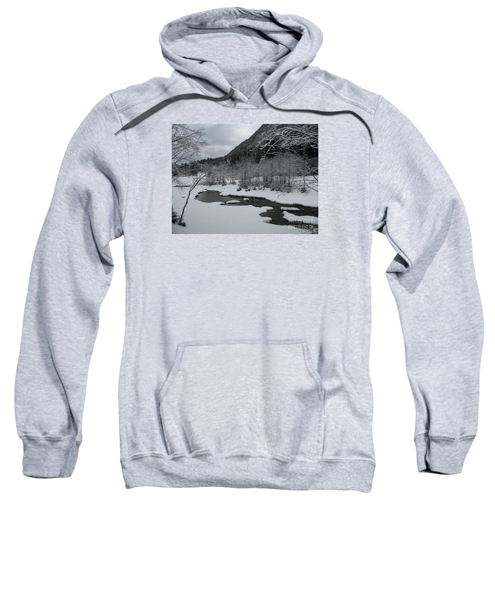 Creek Sweatshirt featuring the photograph Snowed Under Valley by Christiane Schulze Art And Photography