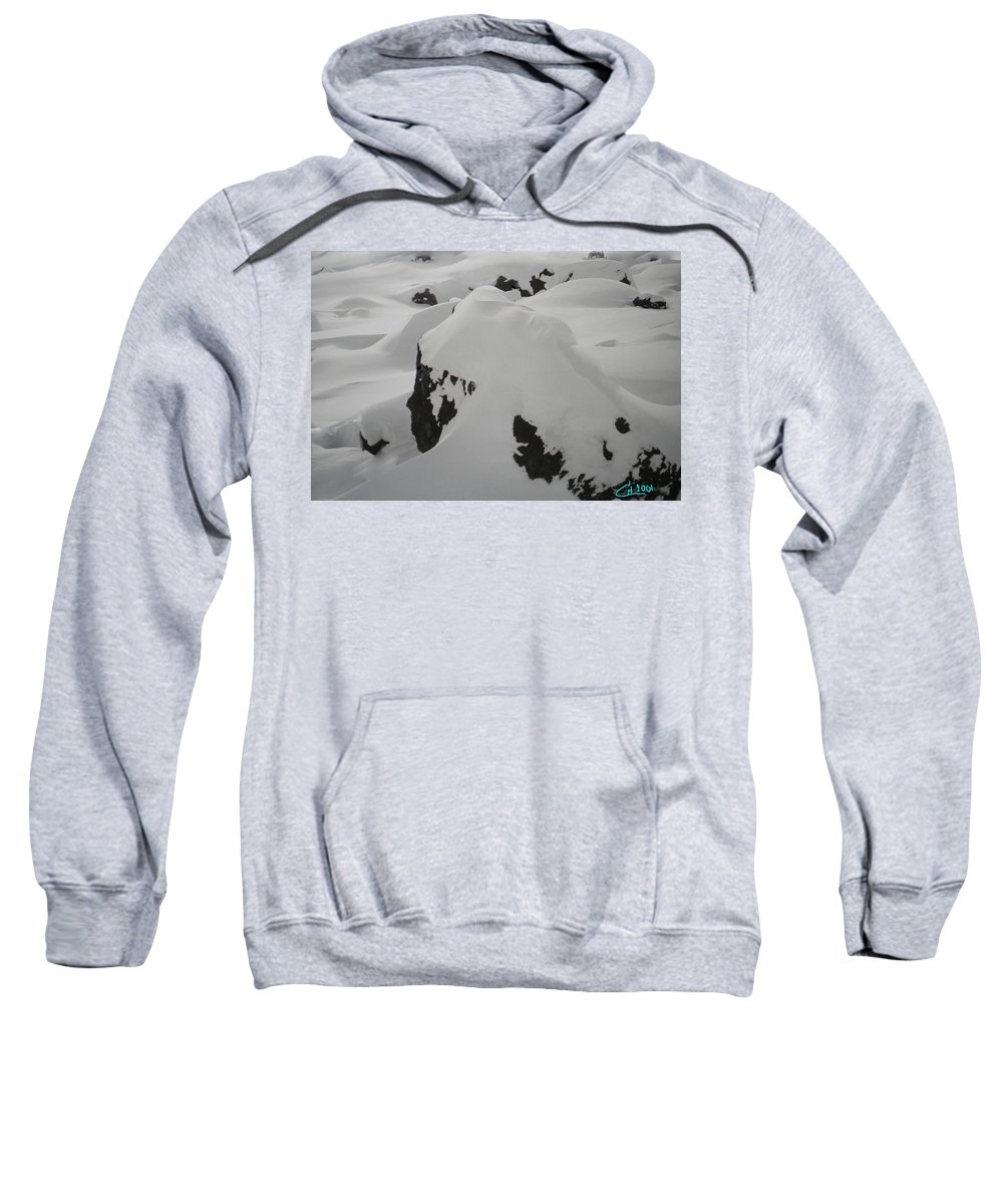 Colette Sweatshirt featuring the photograph Snowface Mother Earth Protecter Ischgl Austria by Colette V Hera Guggenheim