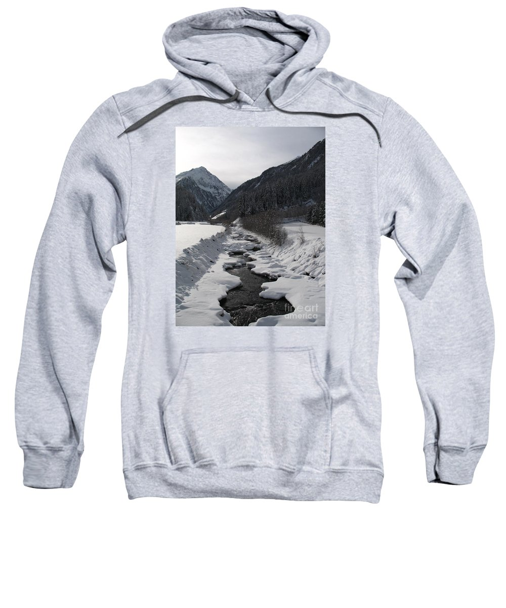 Creek Sweatshirt featuring the photograph Snowy Creek by Christiane Schulze Art And Photography