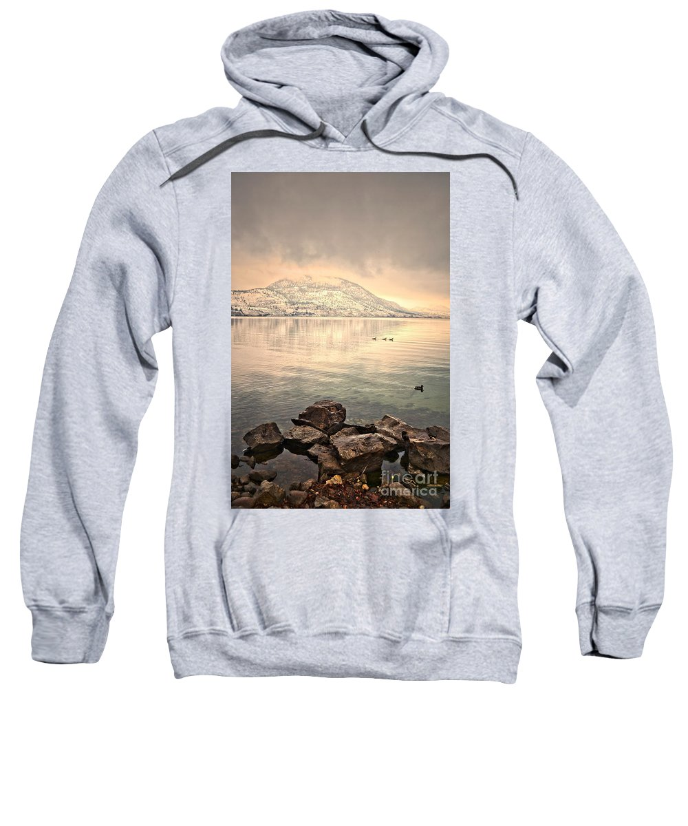 Mountains Sweatshirt featuring the photograph Snowy Reflections by Tara Turner