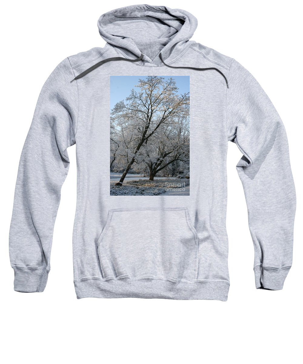 Snow Sweatshirt featuring the photograph Snowcovered Trees by Christiane Schulze Art And Photography
