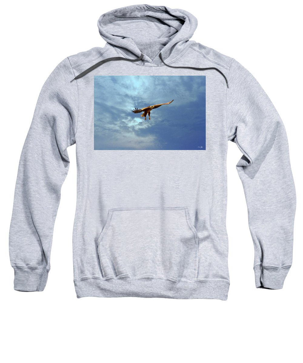 Eagle Sweatshirt featuring the photograph Soaring by Scott Pellegrin
