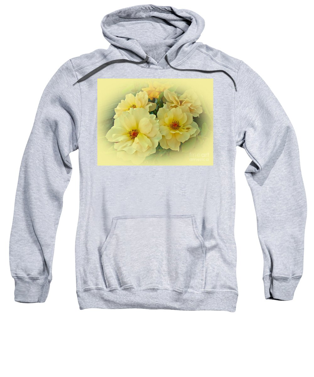 Roses Sweatshirt featuring the photograph Softly And Sweetly by Mother Nature
