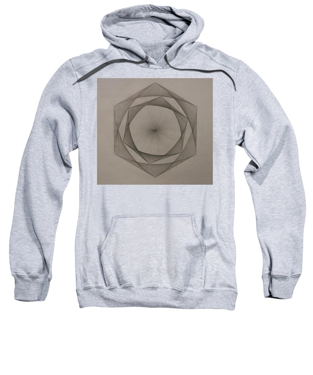 Fractal Sweatshirt featuring the drawing Solar Spiraling by Jason Padgett