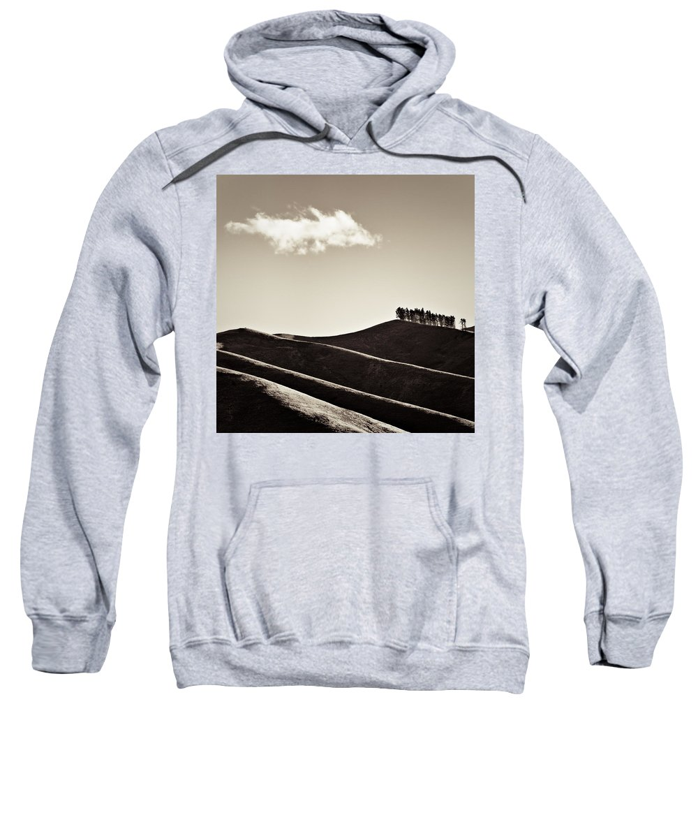 New Zealand Sweatshirt featuring the photograph Solitary Cloud by Dave Bowman