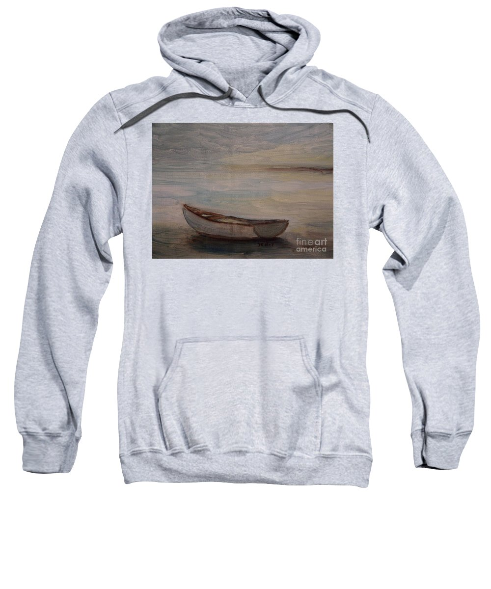 Boat Sweatshirt featuring the painting Solitude by Julie Brugh Riffey