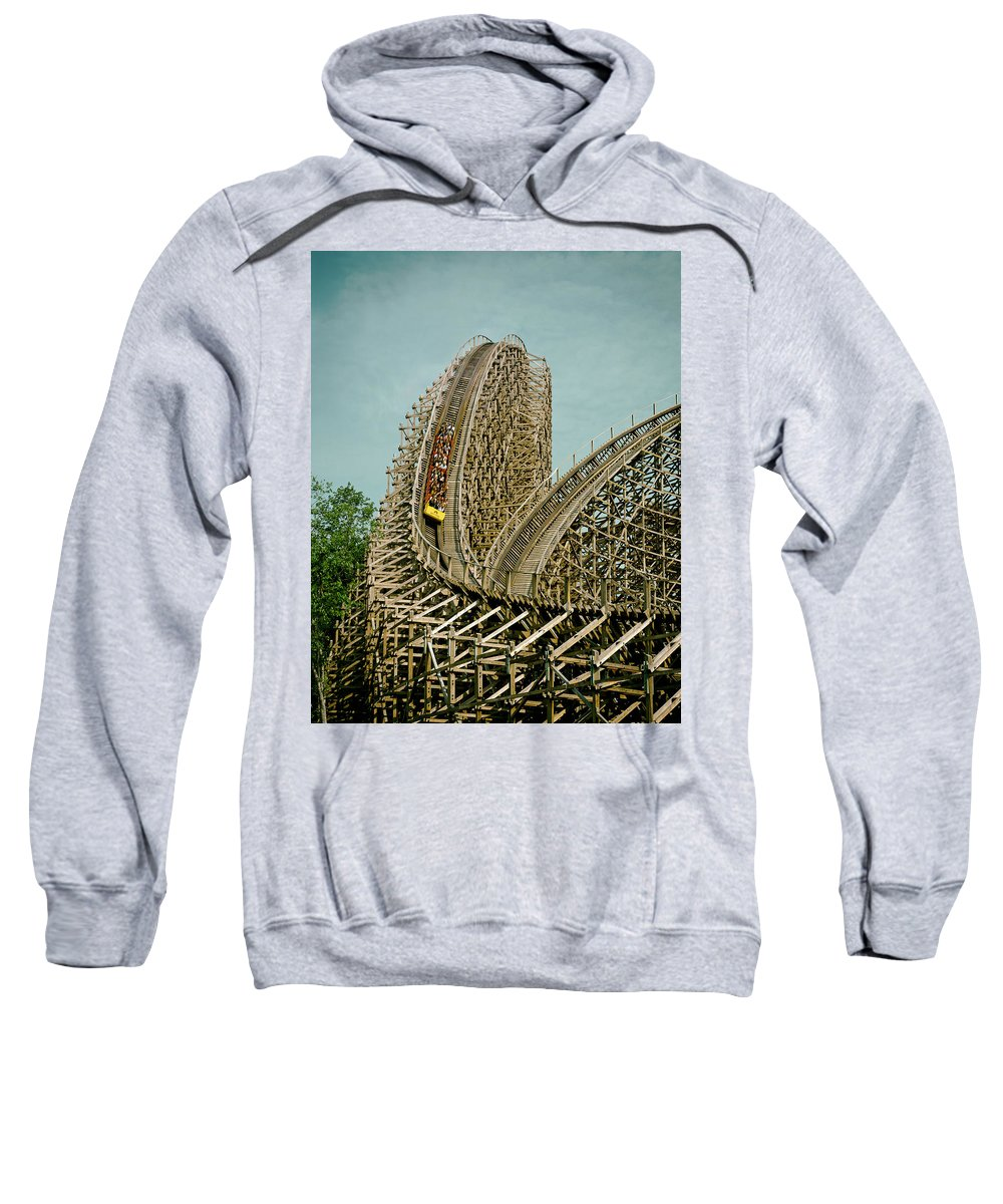 Son Of Beast Sweatshirt featuring the photograph Son Of Beast Roller Coaster by Mountain Dreams