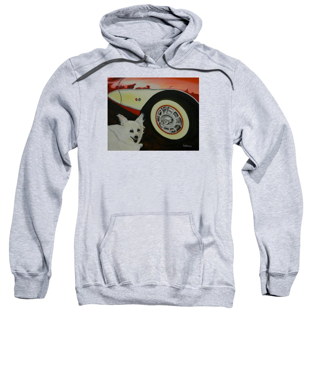Oil Sweatshirt featuring the painting Sophie At The Vett by Dean Glorso