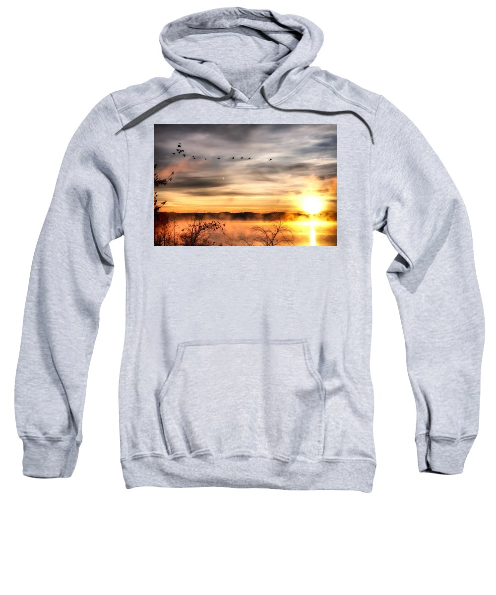 Lake Sweatshirt featuring the photograph South Carolina Morning by Lynne Jenkins