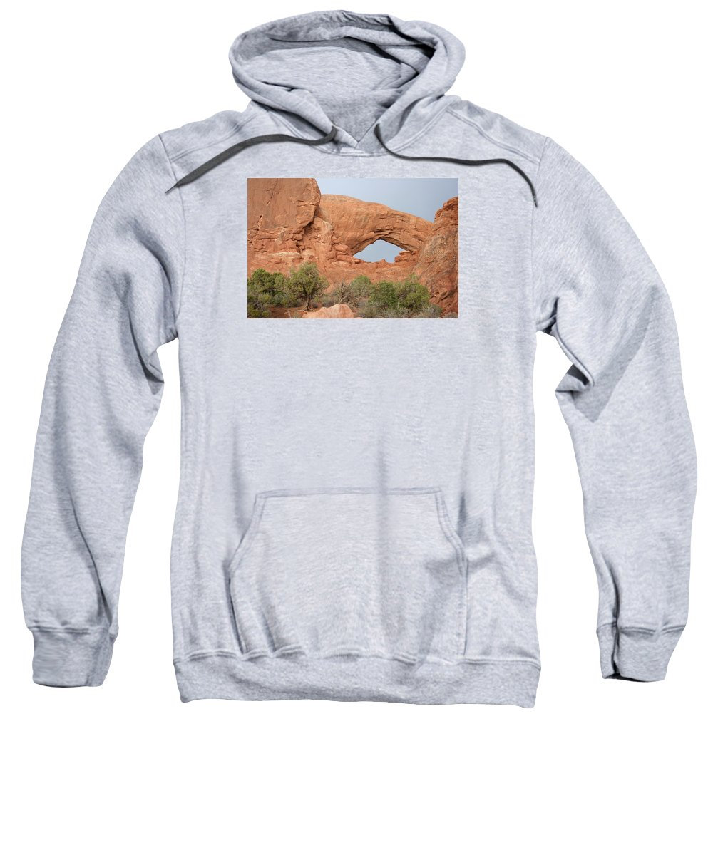 South Window Sweatshirt featuring the photograph South Window Arches National Park by Christiane Schulze Art And Photography