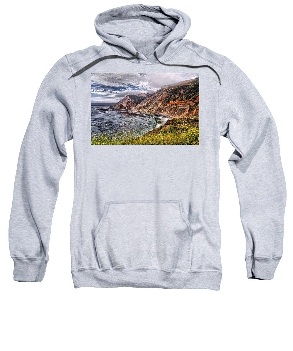California Sweatshirt featuring the photograph Souther California Coast by Jon Berghoff
