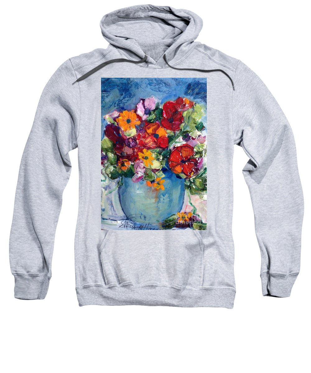 Sunflower Sweatshirt featuring the painting Southern Comfort by Sherry Harradence