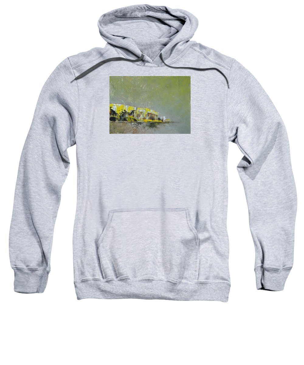 Seascape Sweatshirt featuring the painting Souvenir De Vacances #28 - Memory Of A Vacation #28 by France Gionet