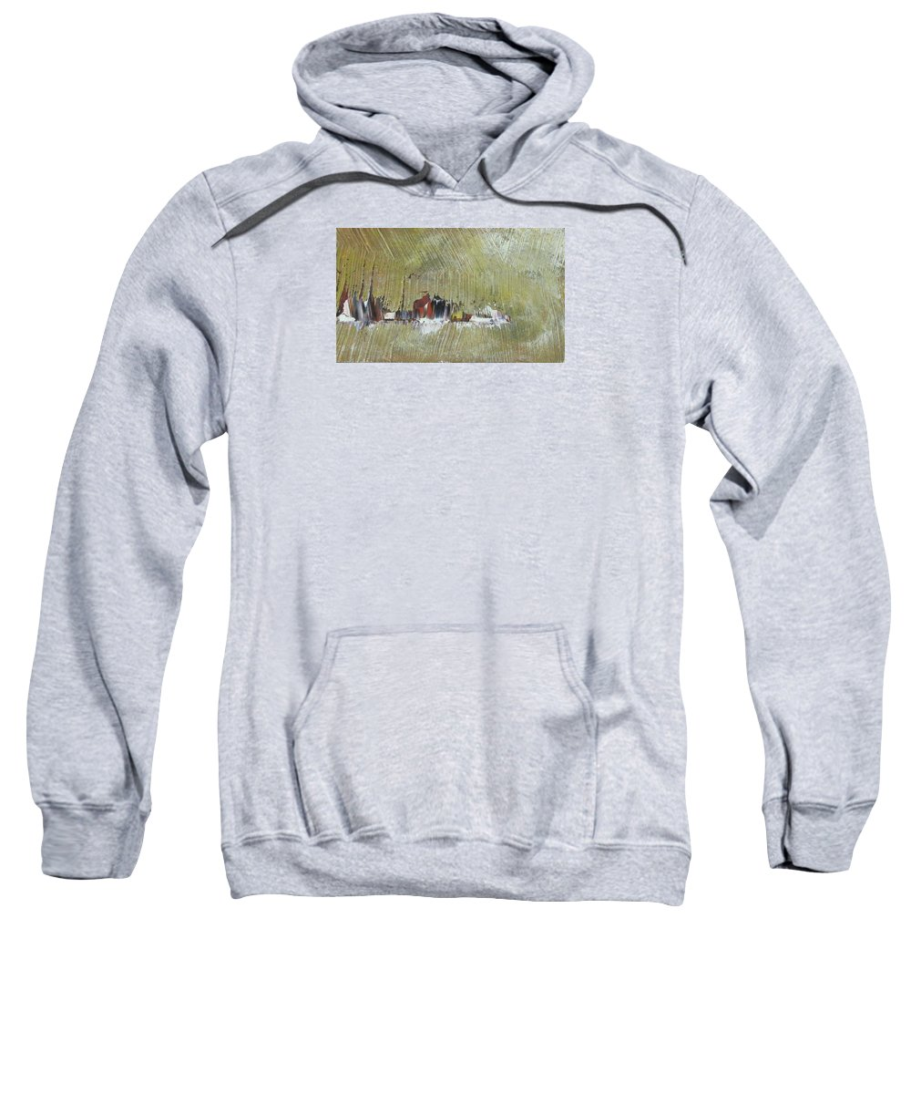 Seascape Sweatshirt featuring the painting Souvenir De Vacances #30 - Memory Of A Vacation #30 by France Gionet