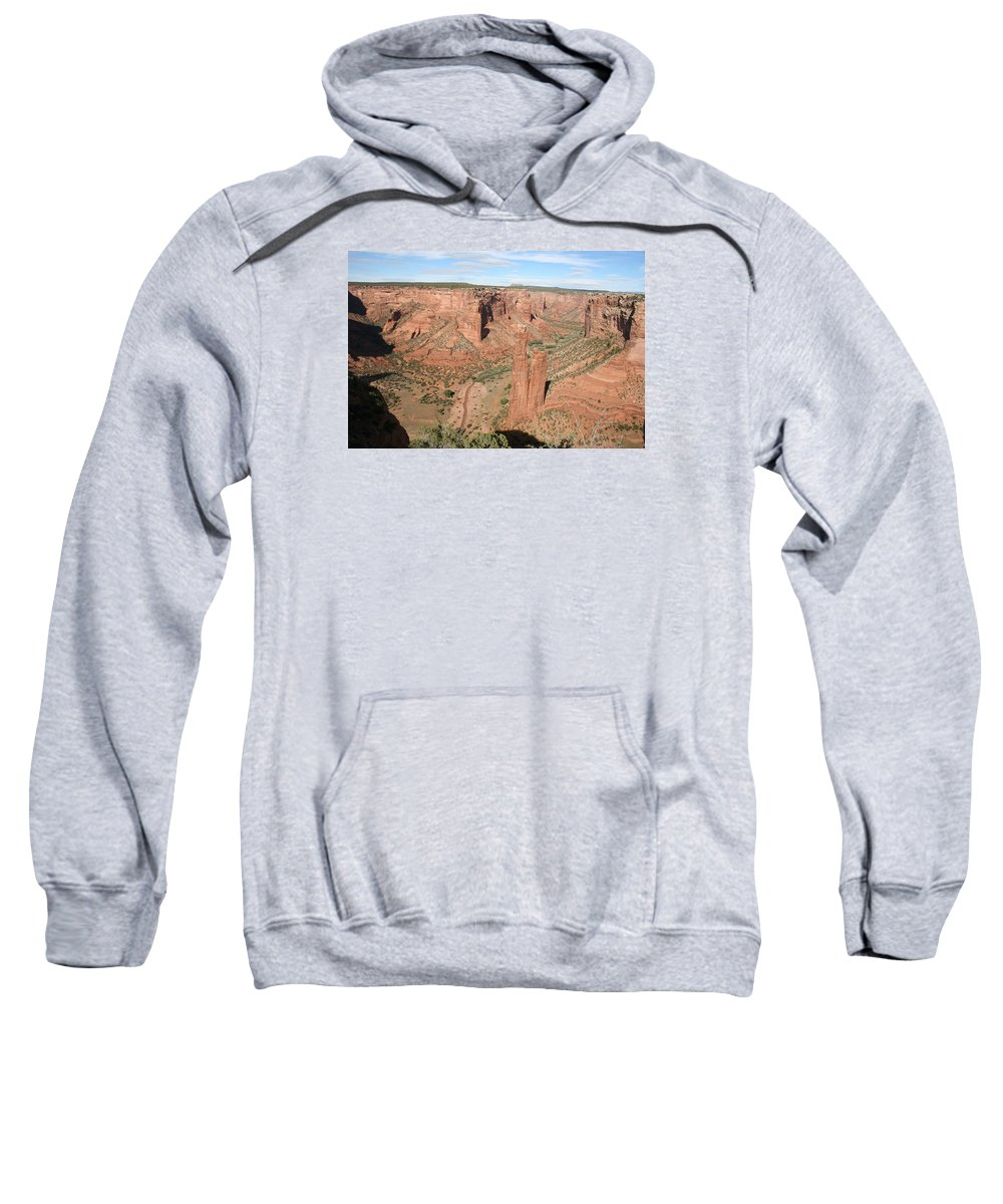 Spider Rock Sweatshirt featuring the photograph Spider Rock Canyon De Chelly by Christiane Schulze Art And Photography