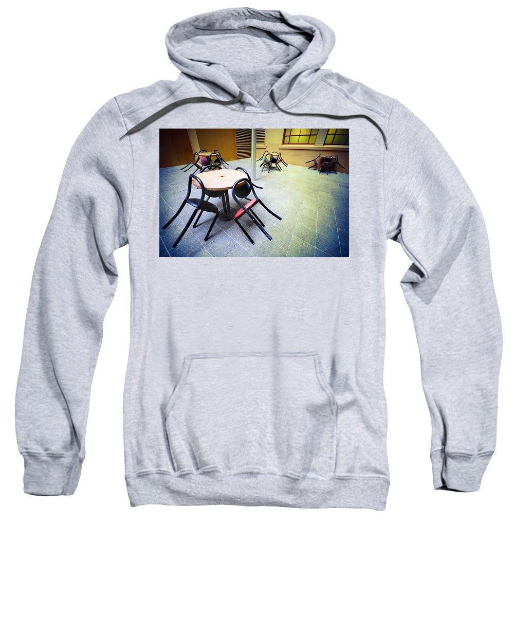 Chairs Sweatshirt featuring the photograph Spiders From Mars by Wayne Sherriff