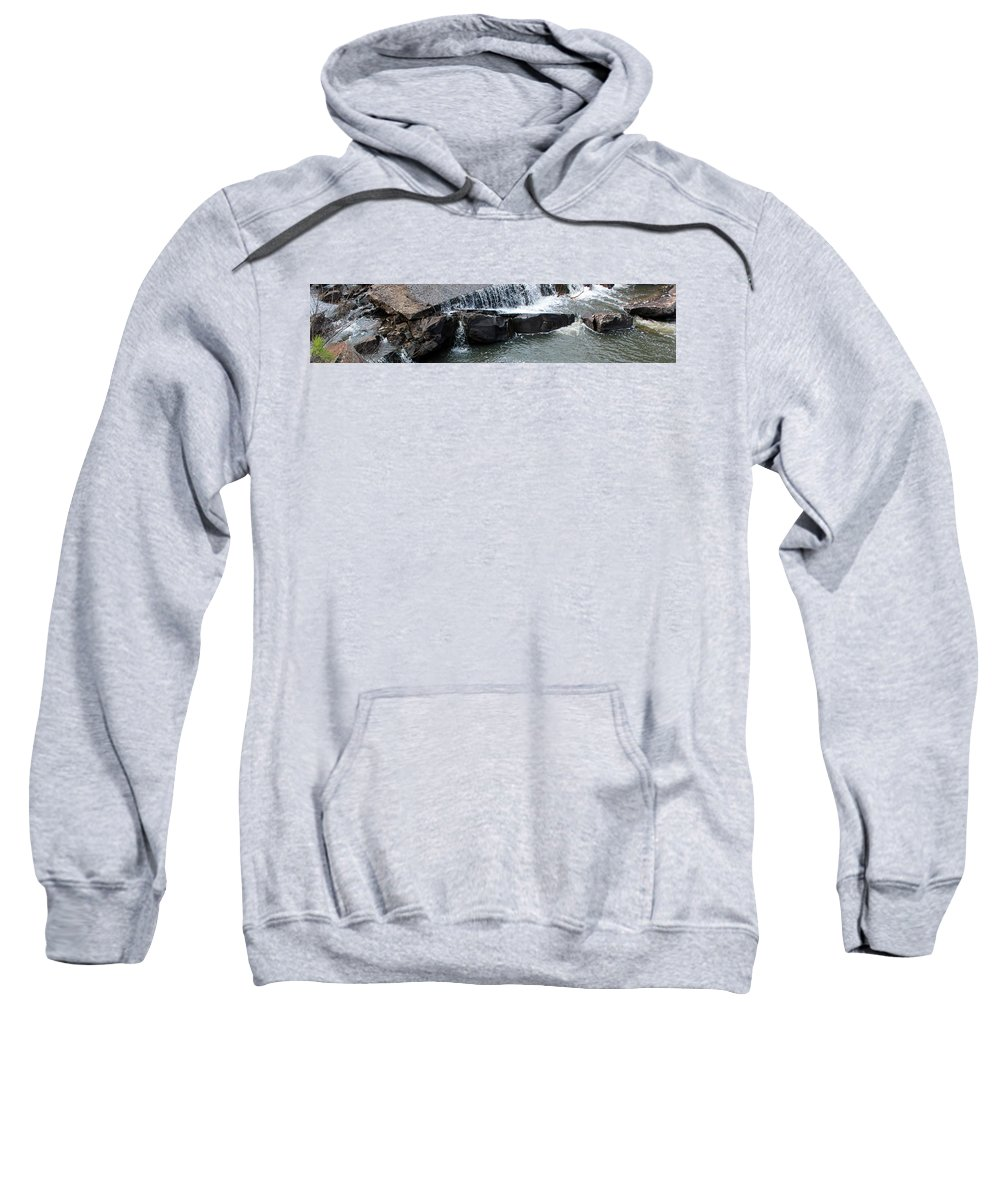 Clayton Lake Sweatshirt featuring the photograph Spillway Pano by Jackie Austin