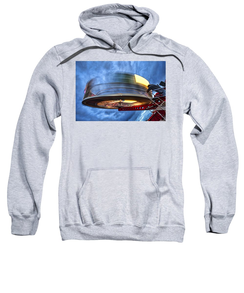 County Fair Sweatshirt featuring the photograph Spinning Up The Universe by Diana Powell