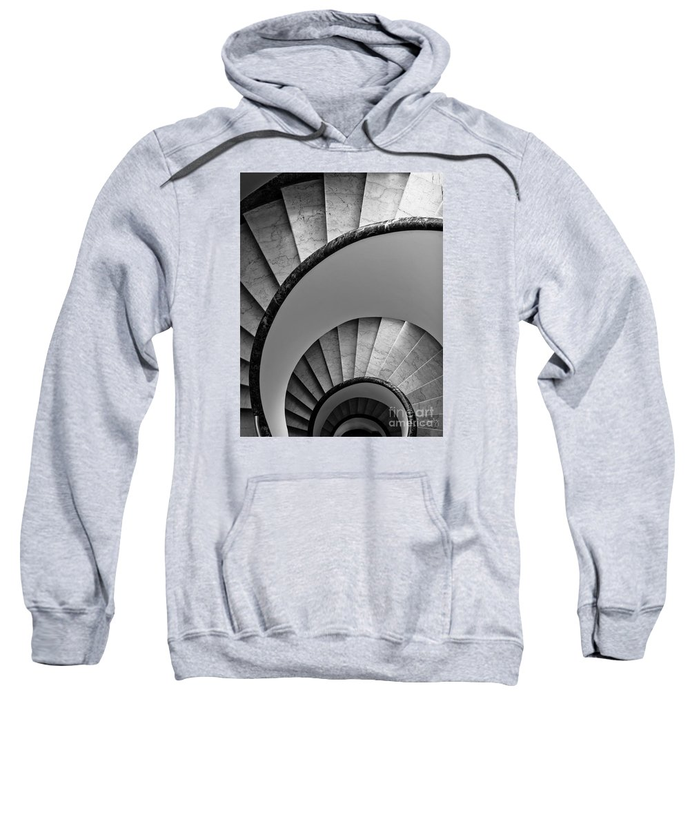 Spiral Staircase Sweatshirt featuring the photograph Spiral Staircase by Prints of Italy