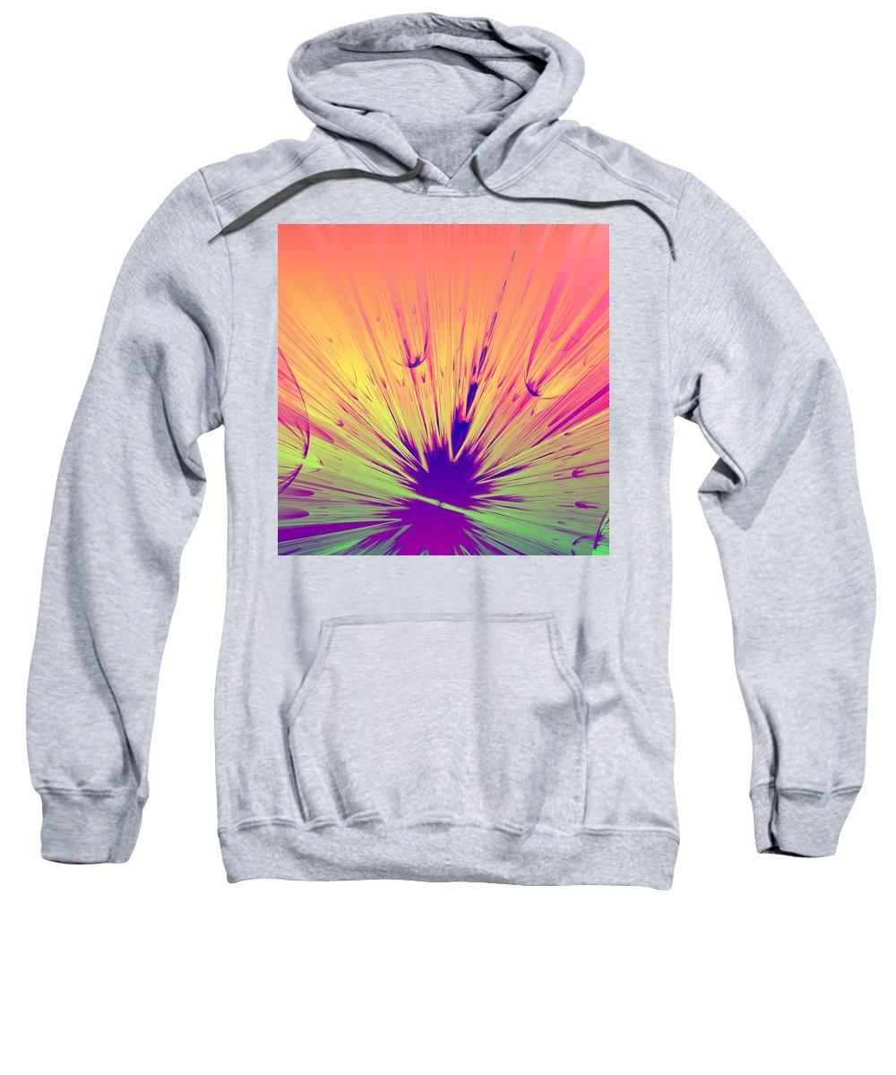 Rendering Sweatshirt featuring the digital art Splat by Lyle Hatch