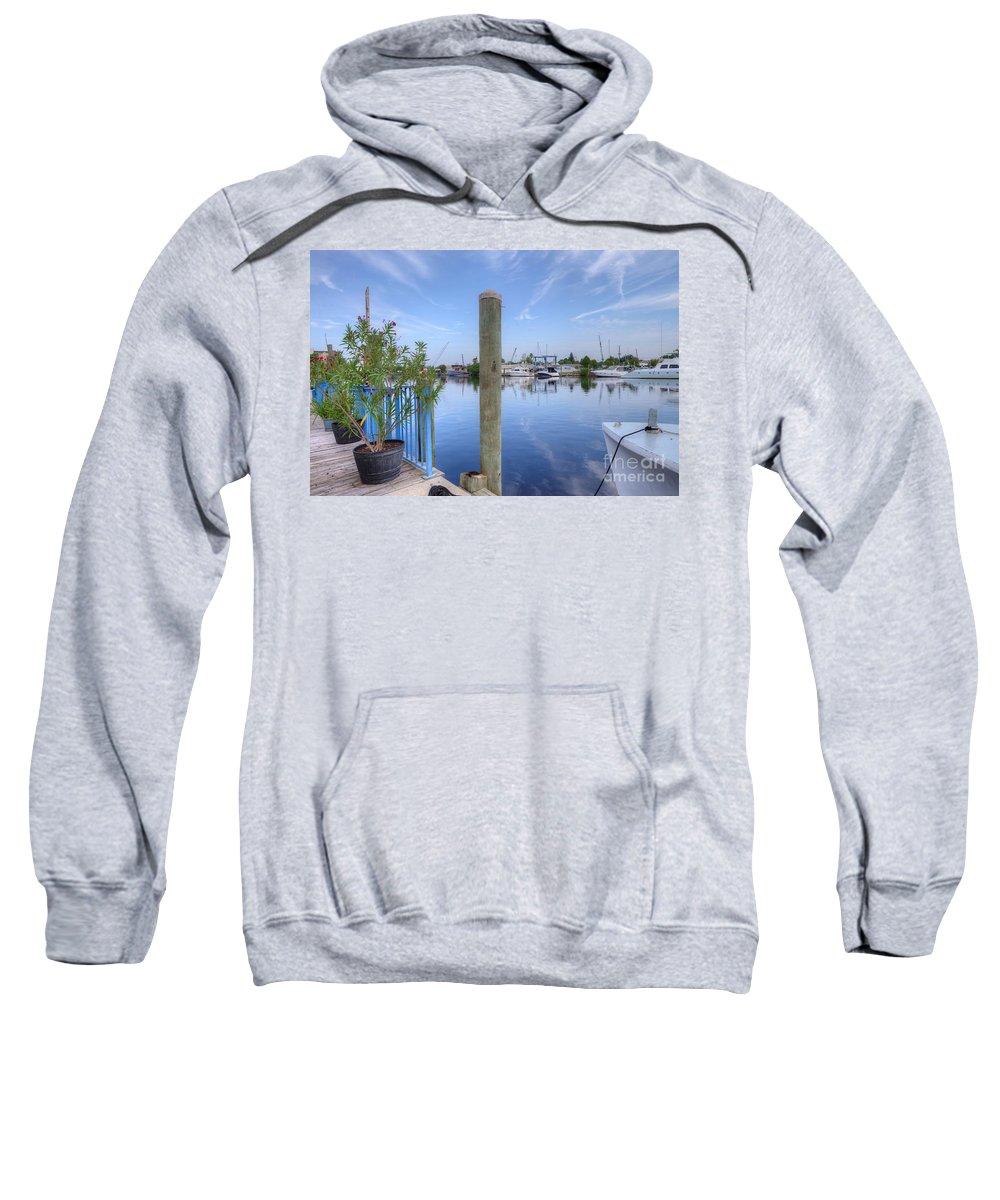 Sponge Boat Sweatshirt featuring the photograph Sponge Boat Docks 2 by L Wright