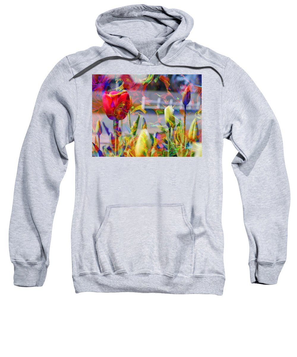 Abstract Sweatshirt featuring the photograph Spring Abstraction IIi by Tina Baxter